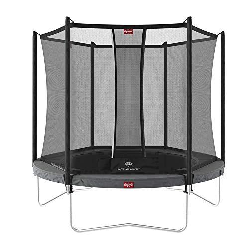 BERG Favorit Trampoline Regular 270 cm grau + Safety Net Comfort | Premium Trampolin, Hohe Qualität...