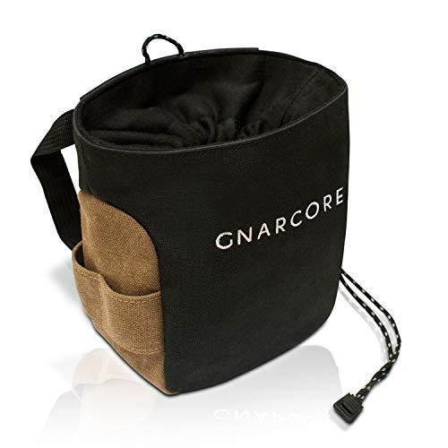 Gnarcore Chalkbag selbststehend mit staubfreiem Verschlusssystem - Universeller Magnesiumbeutel zum...