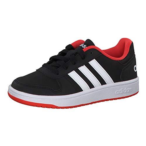 adidas Unisex-Kinder Hoops 2.0 Basketballschuhe, Schwarz (Negro 000), 40 EU