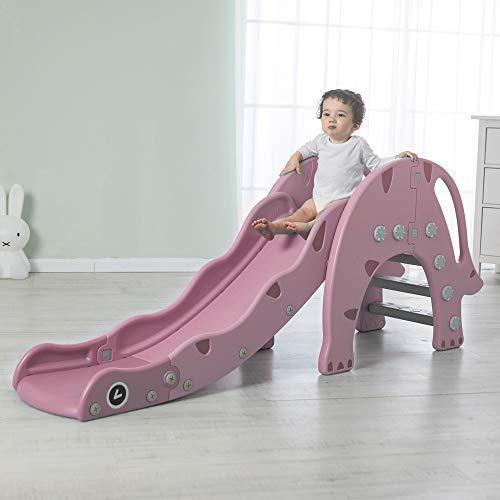 Avior Kids Dinosaurierrutsche, Pink, Kinderrutsche Gartenrutsche