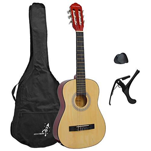 3rd Avenue Rocket Junior 1/4-Größe, Konzertgitarren-Starterset für Anfänger, klassische Gitarre mit...