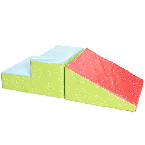 Milliard - Softbausteine Schaumstoffbausteine Treppe und Rutsche für Kinder - Weiches...