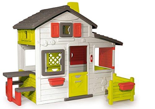 Smoby – Friends House - Spielhaus für Kinder für drinnen und draußen, mit Sitzbank, Türklingel,...