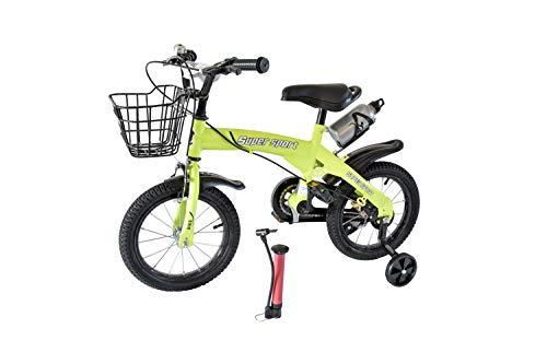 MPM 14 Zoll Kinderfahrrad mit Stützräder Kinderrad Fahrrad Spielrad in 3 versch. Farben (grün)