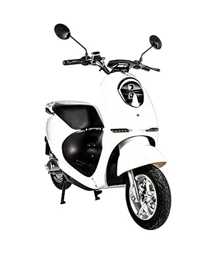 Home Deluxe - E-Roller Lorenzo - Farbe: weiß - inkl. Zulassung 45 km/h   E Scooter, Elektro Roller,...