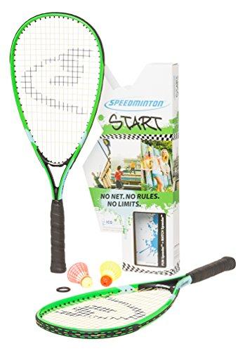 Speedminton Unisex Start - Original Speed Badminton/Crossminton Starter Inklusive 2 Speeder Badminton...