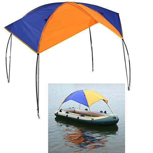 Floving 4-5 Personen Schlauchboot Sonnenschirm Inflatable Boat Segeln Markisendach Markise Obere...