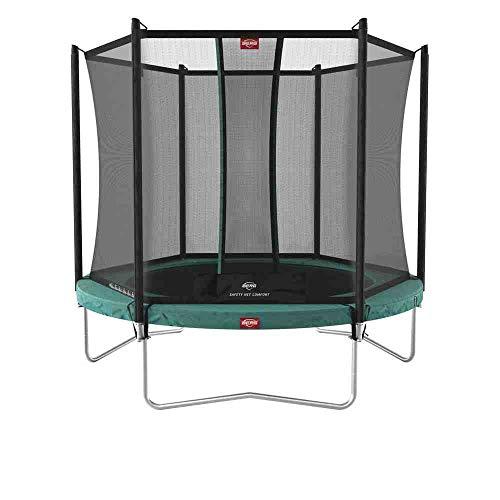BERG Favorit Trampoline Regular 330 cm grün + Safety Net Comfort   Premium Trampolin, Hohe Qualität...