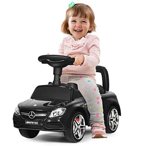 COSTWAY Kinderauto mit Hupe und Musik, Rutschauto Stauraum unter dem Sitz, Kinderrutscher, Spielzeugauto...