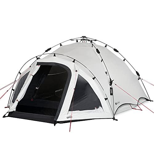 Qeedo Quick Oak 3 Personen Campingzelt, Sekundenzelt, Quick-Up-System, Dark Series (innen nachtschwarz)