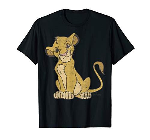 Disney Lion King Young Simba Smirk Portrait Logo T-Shirt