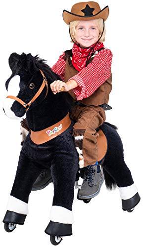 Miweba PonyCycle Black Beauty - Modell 2021 - U Serie - Schaukelpferd - Kuscheltier auf Rollen - Inline -...