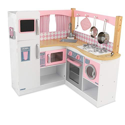 KidKraft 53185 Grand Gourmet Eck-Spielküche, rosa & weiß