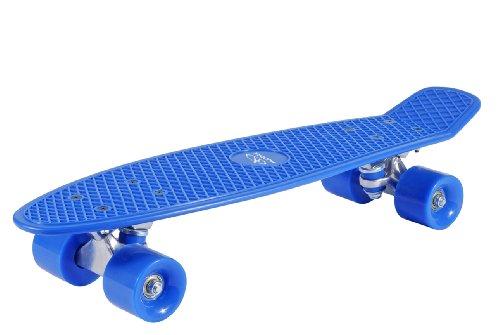 HUDORA - Kinder 12137 Retro Skateboard, himmelblau