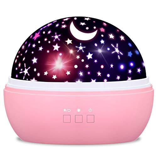 Dreamingbox Geburtstags Geschenke für Mädchen 1-10 Jahre, Sternenhimmel Projektor Nachtlicht Kinder...
