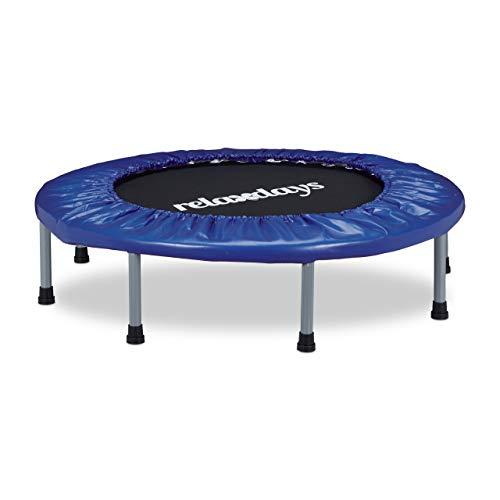 Relaxdays Trampolin faltbar, Indoor, Fitness H x B x T: 22 x 95 x 95 cm, Maximalbelastung 100 kg,...
