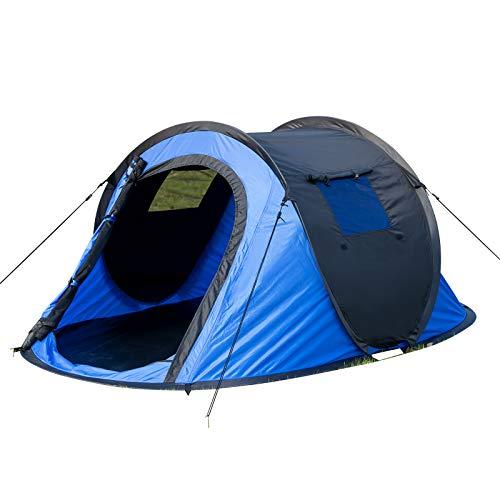 EUGAD Camping Pop Up Zelt Outdoor-Zelt für 2-3 Personen Wurfzelt Sekundenzelt wasserfest mit Tragetasche...