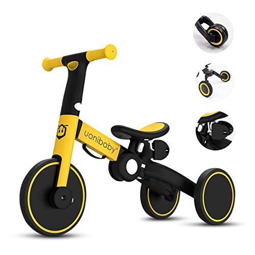 OLYSPM 4 in 1 Laufräder Kinder Dreirad Lauflernhilfe,leichtes Kinderrad Lauflernrad faltbar...
