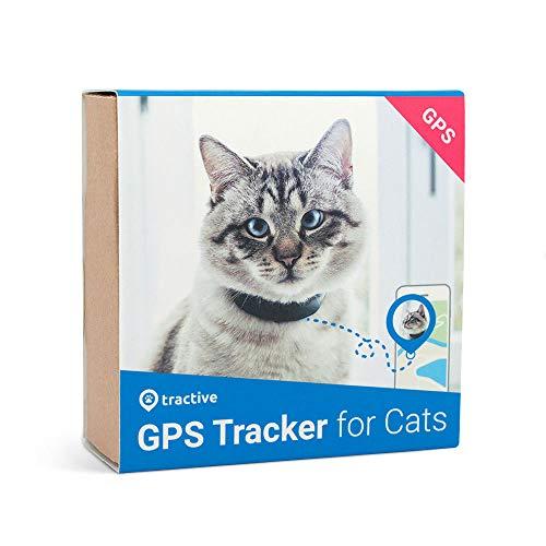 Tractive GPS Tracker für Katzen - Leichter und wasserdichter Peilsender mit Echtzeit GPS-Ortung und...