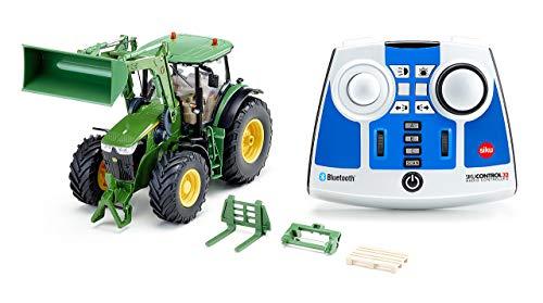siku 6795, John Deere 7310R Traktor mit Frontlader, Grün, Metall/Kunststoff, 1:32, Ferngesteuert, Inkl....