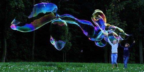 Giant Bubble Wand 50cm für Riesenseifenblasen 1L Seifenblasenfluid