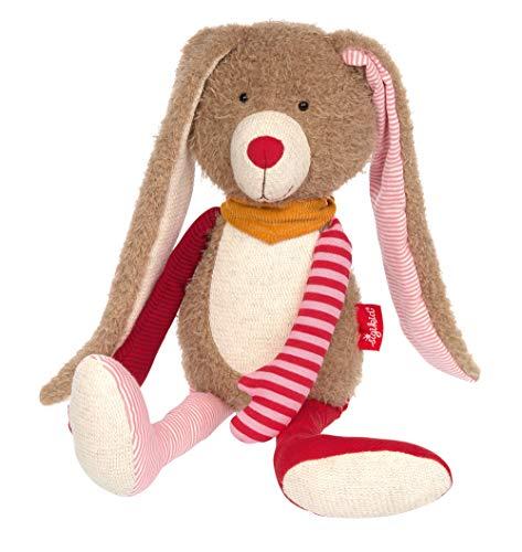 Sigikid Mädchen und Jungen, Hase Patchwork Sweety, Kuscheltier, empfohlen ab 0 Monaten, rosa/braun,...