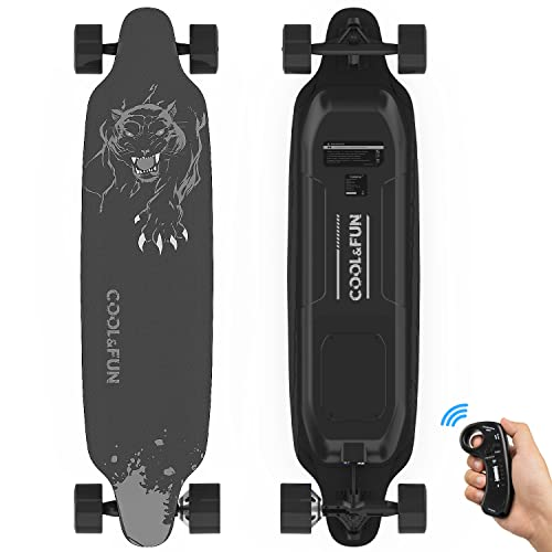 RCB Longboard Elektromotor Skateboard E Skateboard, mit Fernbedienung, Skateboard-Design 4-Räder,...