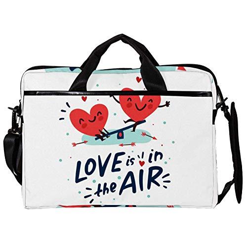 Laptoptasche mit 2 Herzen auf Wippe, 38,1 cm (15 Zoll)