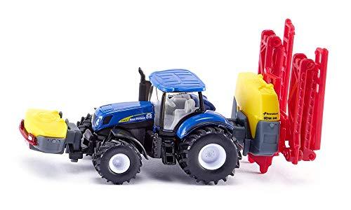 siku 1799, New Holland Traktor mit Kverneland Pflanzenschutzspritze, 1:87, Metall/Kunststoff, Blau,...