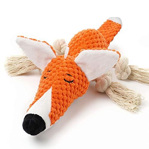 Sedioso Plüsch-Hundespielzeug, interaktiv, gefüllter Fuchs, Hundespielzeug für Langeweile, niedliches...