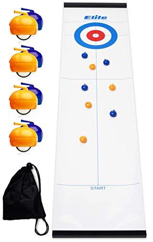 Elite Sportz Curling - Tabletop Tischspiel für die ganze Familie - Spaß für Kinder und Erwachsene
