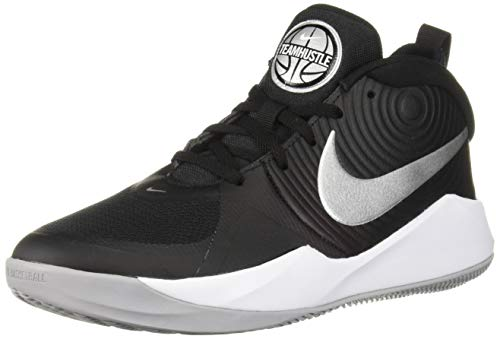 Nike Unisex Team Hustle D 9 (GS) Basketballschuhe, Mehrfarbig (Black/Metallic Silver/Wolf Grey/White...
