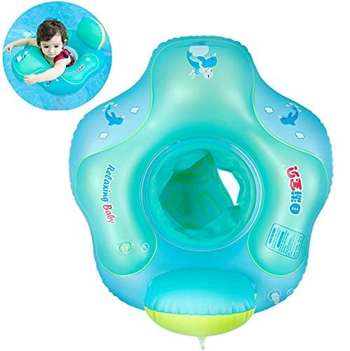 Myir Schwimmring Baby mit Rückenlehne, Aufblasbare Baby Schwimmsitz Schwimmhilfe Swimtrainer...