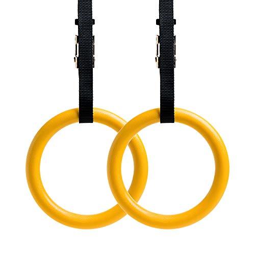 REEHUT Turnringe Gymnastikringe Fitnessringe Olympic Rings Ringe Turnen Verstellbare Nylonbänder...
