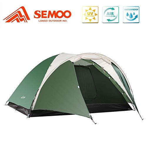 Semoo Leichtgewicht Campingzelt 3 Personen, für 4 Jahreszeiten, D-Eingang, mit Moskitonetz, mit...