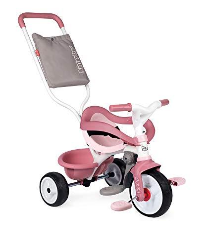 Smoby 740415 - Be Move Komfort rosa - Kinderdreirad mit Schubstange, Sitz mit Sicherheitsgurt,...