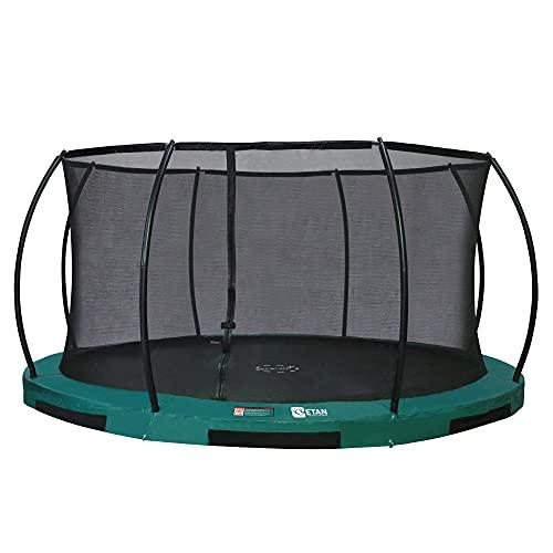 Etan Hi-Flyer Outdoor Boden Trampolin mit Sicherheitsnetz - Inground Gartentrampolin mit UV-beständiger...