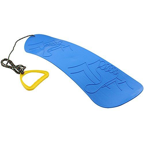 com-four® Snowboard Pistenrutscher in blau, Schnee-Gleiter mit Zugseil und Handgriff, Schneeflitzer (01...