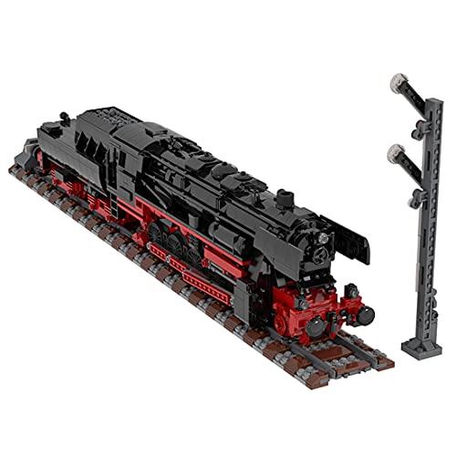 KOAEY Dampflokomotive Baustein, 2541 Klemmbausteine MOC-25554 Deutsche Dampflokomotive 52.80 City Zug...