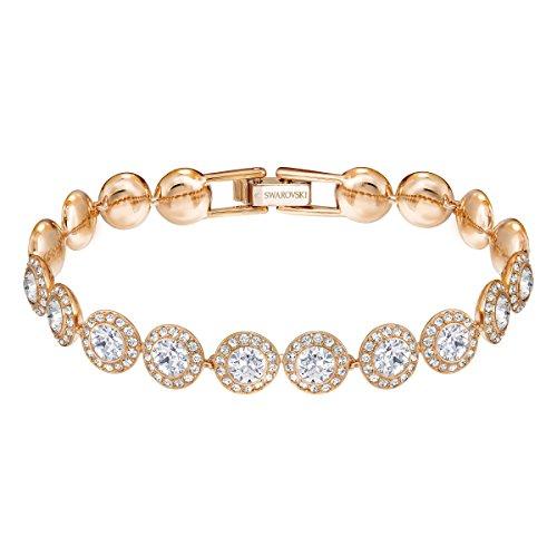 Swarovski Angelic Armband, Vergoldetes Damenarmband mit Funkelnden, Klaren Swarovski Kristallen