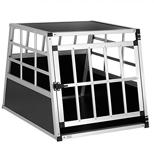 Cadoca Hundetransportbox M robust verschließbar aus Aluminium Autotransportbox Tiertransportbox...