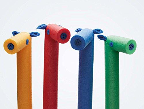 NMC Pony Schwimmnudel Pool Pony 145 cm Comfy® Pony mit lustiger Pfeife | Farbe (blau)
