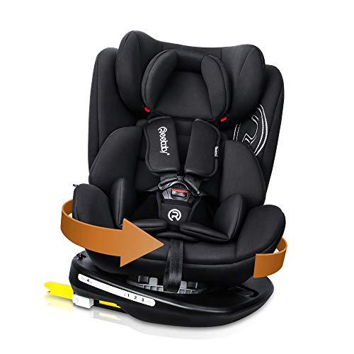Reebaby Baby Autositz 360° drehbar Gruppe 0+1/2/3 (0-36 kg/0-12 Year) mit Protektoren seitliche Isofix...