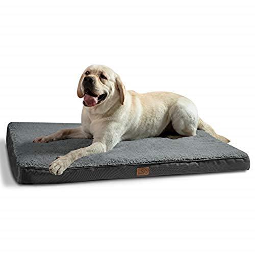 Bedsure Hundekissen XXL/Hundematratze für kleine mittlere große Hunde, eierförmiger Kistenschaum...