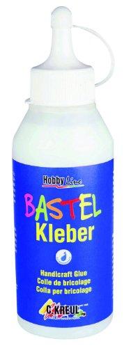Kreul 49361 - Bastelkleber transparent, 250 ml, auf Wasserbasis, lösungsmittelfrei, für viele...