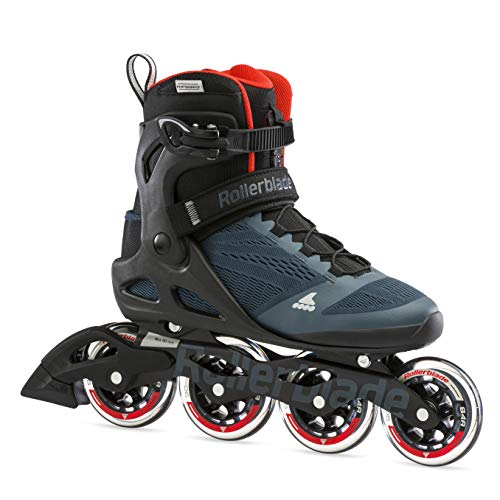 Rollerblade Unisex– Erwachsene MACROBLADE 90 Inline-Skate, Orion BLAU/SCHARF ORANGE, 295