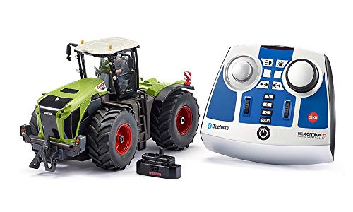 siku 6794, Claas Xerion 5000 TRAC VC Traktor, Grün, Metall/Kunststoff, 1:32, Ferngesteuert, Inkl....