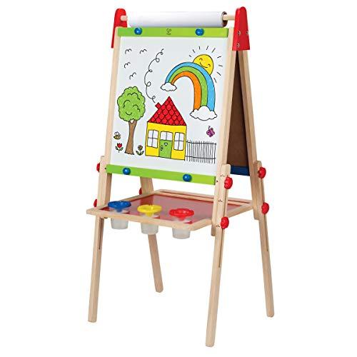 Hape E1010 - Spiel-Tafel, magnetisches Whiteboard und Kreidetafel, höhenverstellbar, inklusive Malpapier...