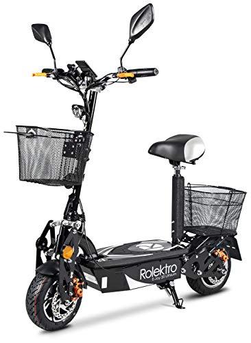 Rolektro E-Joy 20 Elektroroller mit Lithium Akku - 20 km/h E-Roller 500W Radnabenmotor 45km Reichweite...
