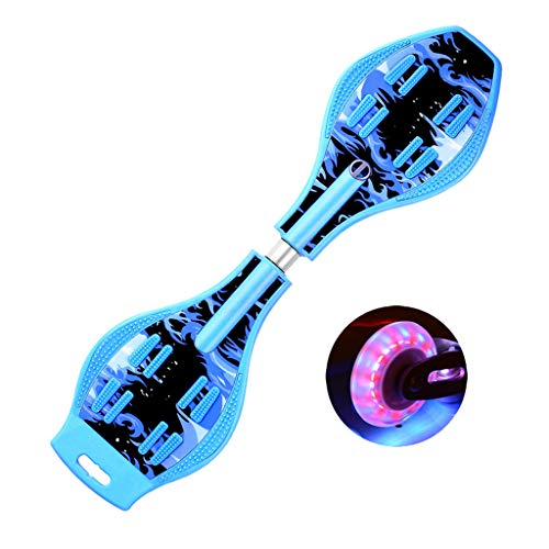 ZWLI Waveboard Pro Bis 100 kg | Mit LED Leuchtrollen, Tasche und Zubehör für Kinder für Kinder,...